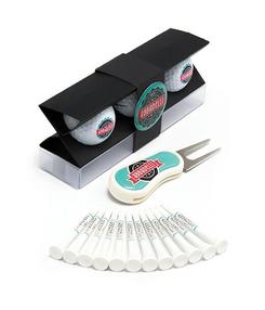 Golf Startgeschenk, Golf Startgeschenk bedrucken, Golf Startgeschenk mit Logo, Golfbälle bedrucken, Holztees bedrucken