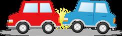 交通事故イメージ イラスト