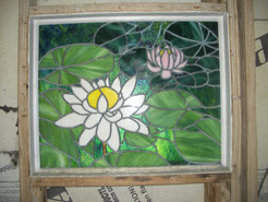 Stained Glass Water Lily Window