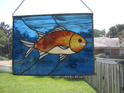 Stained Glass Redfish Panel