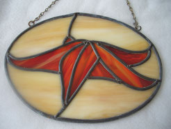Stained Glass Starfish Panel