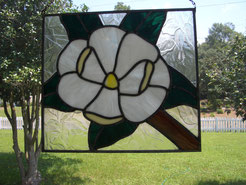 Stained Glass Magnolia Panel