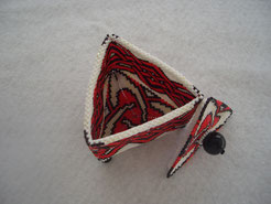 Hand Stitched Red Knot Beaded Box