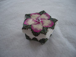 Hand Stitched Pentagon Beaded Flower Box
