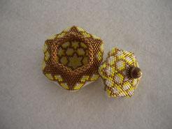 Hand Stitched Tuffet Style Beaded Box