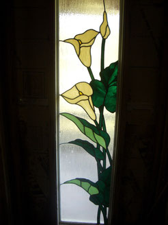Stained Glass Cally Lily Window