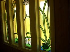 Stained Glass Swamp Window Set