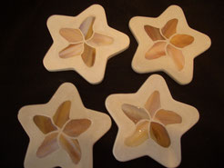 Starfish Stained Glass Mosaic Coasters