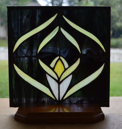 Stained Glass Conch Shell Panel