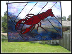 Stained Glass Crawfish Panel