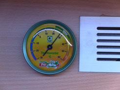 Perfekte Temperaturverhältnisse tagsüber