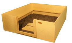 Wurfbox von welpen-wurfkiste.de aus Holz mit Vlies