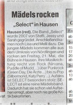 (Wochenzeitung, 19.05.2010)