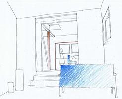 看板建築・1階土間リビングへリフォーム