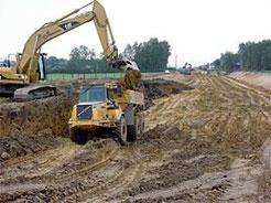 Uitgraving : eerste fase van het grondverzet