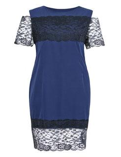 elegantes Kleid Gr 52, exklusive Plus Size Kleider , dunkelblaues Kleid XXL