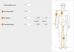 Körperdaten bei er Fahrrad-Kaufberatung