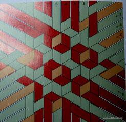 """Anleitungsskizze, aus der franz. Übersetzung """"Les bases du meshwork"""" von S. Maeda"""