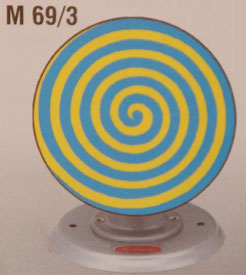M69/3 - Lebensrad gelb blau / wheel of live yellow blue