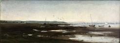 Raoul Dosque. Peinture du Bassin d'Arcachon.