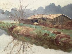 Raoul Dosque. Paysages des landes.