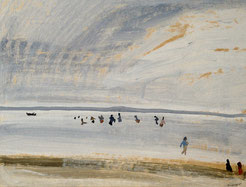 Henriette Lambert. Paysage Bassin Arcachon. Taussat.
