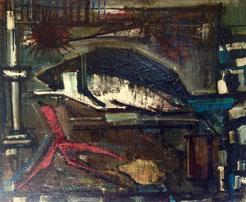 Serge Labégorre. Huile sur toile vers 1950