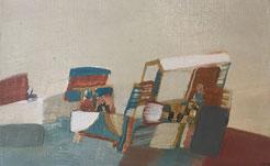 Henriette Lambert. Huile sur toile  1978. Troisième Oeil