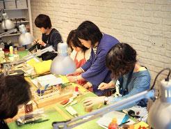 レザークラフト教室のレッスンのイメージ