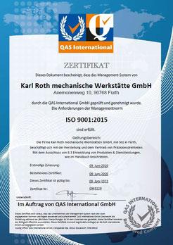 QM Zertifikat ISO 9001:2008