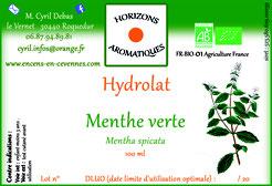 Hydrolats de Menthe verte bio