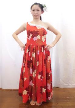 ワンショルダーギャザースカートドレス