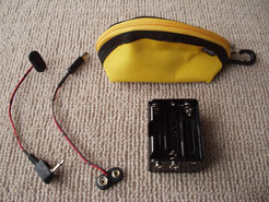 ポータブル9V電源(ポーチ付電池ケース )
