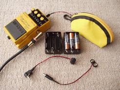 使用例:エフェクターのテストや外部電源