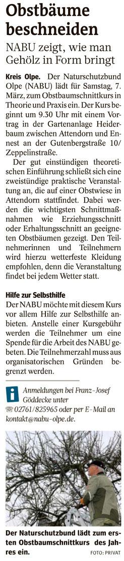 Westfalenpost, 17.02.2020