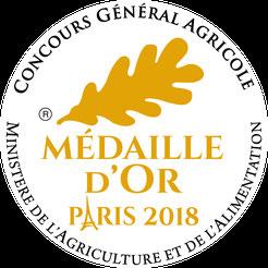 Vin médaille d'or Paris