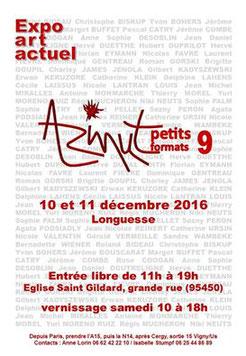 """Exposition """"Petits Formats"""" à Longuesse les 10 et 11 décembre 2016"""