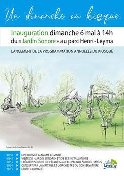 """Jardin sonore"" Parc Henri Leyma Taverny"