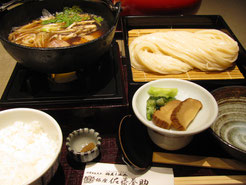 A real udon presentation in Tokyo.  Notice the two servings of carbs.