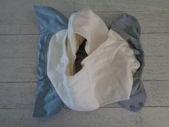 2 inserts en coton bio chez la couche lavable Bumgenius elemental organic TE1