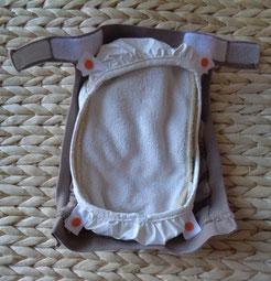 culotte de protection pour couches lavables imperméable gDiapers, son hamac en nylon et son insert posé