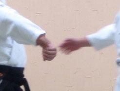 画像⑥ 下段に与えて外巡り、二教の手。