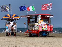 Mobile Strandbar am WoE