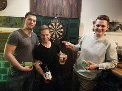 Gewinner des Dart Turniers 2018 (St. Patrick's Day)