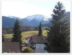Ferienappartement, Kessl, Keßl, Hochparterre, Allgäu, Oberstaufen Steibis, Oberstaufen Plus, Oberstaufen-Plus, Ausblick vom Balkon, Hochgrat, Hündle, Imberg, Staufen