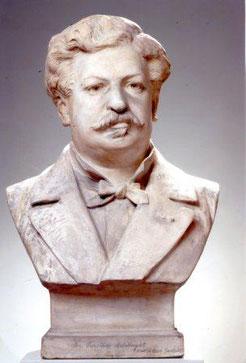 Buste en plâtre par Bartholdi 1878