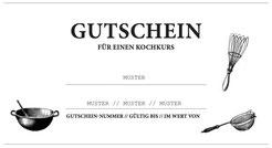 Gutschein Kochkurs München