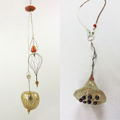 Marian Sturkenboom necklaces resin silicon steelwire pearls