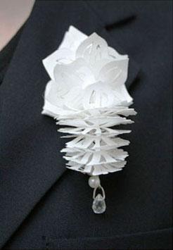 popup speld; acrylaat tyvek parel, bergkristal