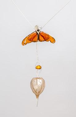 butterfly, vlinder, gedenksieraad, herinneringssieraad Marian Sturkenboom